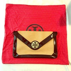 Barely used Tory Burch Clutch w/ shoulder strap